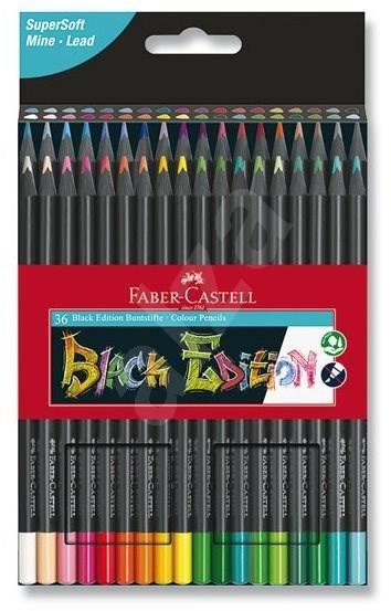 Faber-Castell Buntstifte Black Edition - 36 Farben - Bundstifte