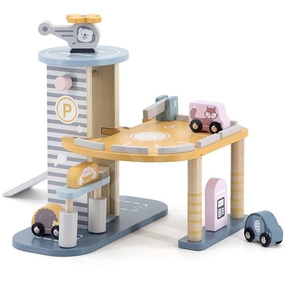 Holzgarage - Holzspielzeug