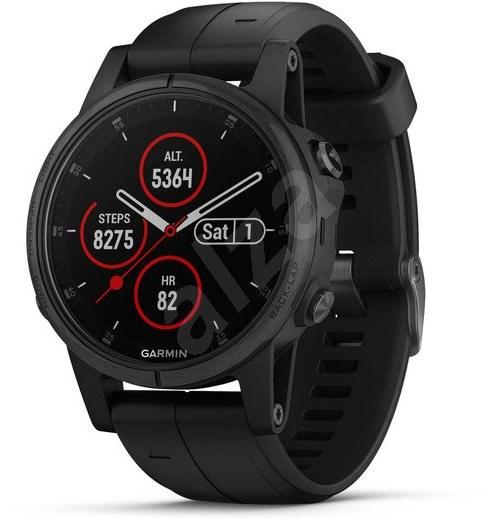 Garmin Fenix 5S Plus Sapphire Black, Black Band - Smartwatch