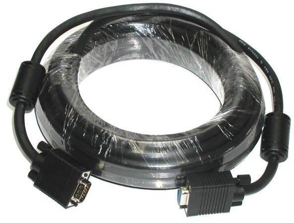 ROLINE HQ VGA, Verlängerungskabel, geschirmt mit Ferritkernen, 10m - Videokabel