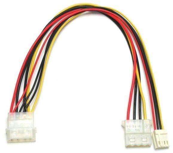 """Roline Stromverteiler FDD 5,25""""-5,25"""" und 3,5"""", 0,25 m - Ladekabel"""