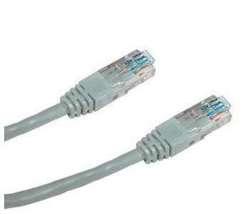 Patchkabel, Datacom, CAT6, UTP, 0,25 m grau - Netzkabel