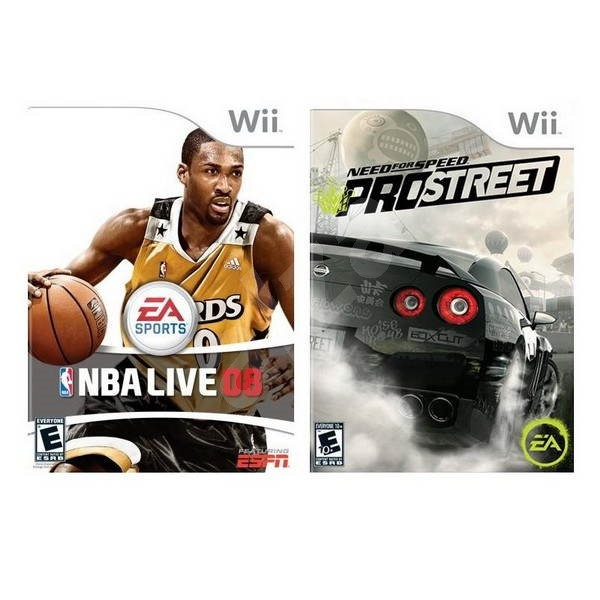 Game For Nintendo Wii - DOUBLE UP - Need For Speed: ProStreet + NBA Live 08 - Konsolenspiel