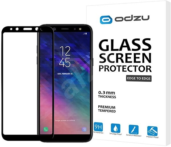 Odzu Glass Screen Protector E2E Samsung Galaxy A6 2018 - Schutzglas