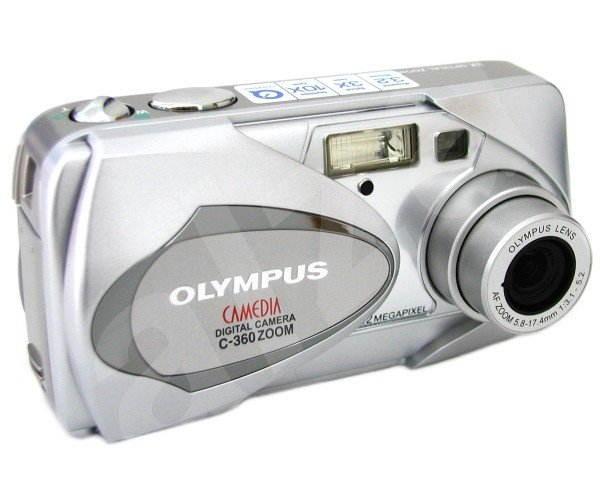 Olympus C-360 Zoom - 3,3 mil. bodů, zoom optický 3x / digitální 3,3x - Digital Camera