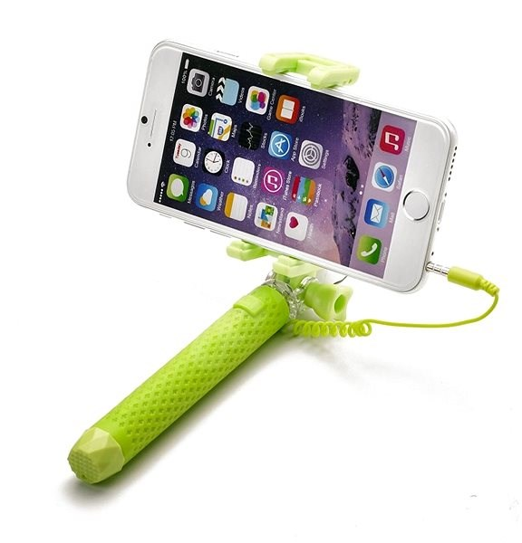 CELLY Mini Selfie Grün - Selfie-Stick