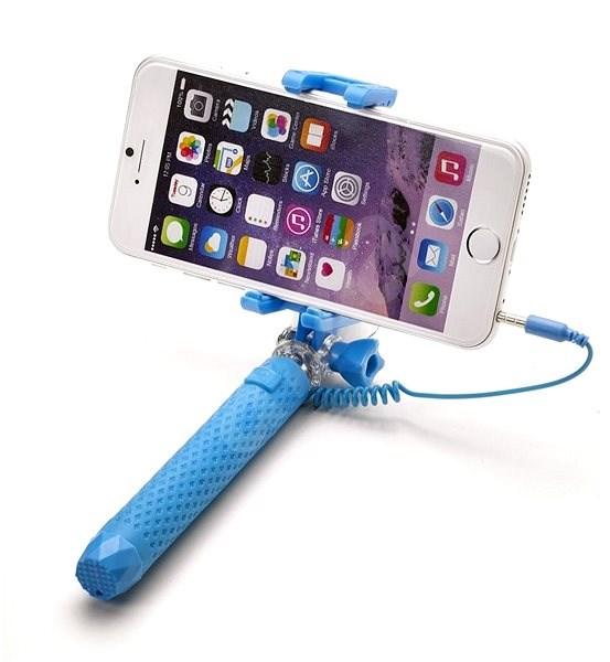 CELLY Mini Selfie hellblau - Selfie-Stick