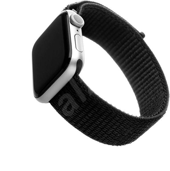 FIXED Nylon Strap für Apple Watch 44 mm / Watch 42 mm - schwarz - Armband