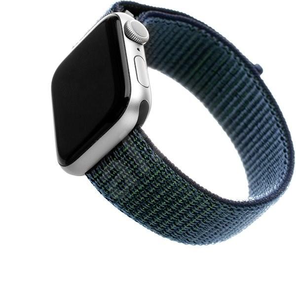 FIXED Nylon Strap für Apple Watch 44 mm / Watch 42 mm - dunkelblau - Armband