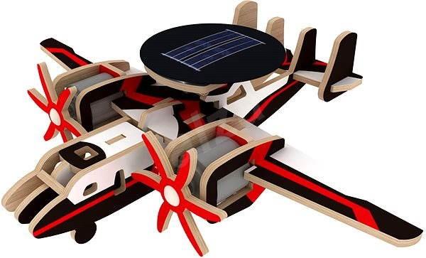 Wooden 3D Puzzle - Militärflugzeuge mit Radar Solar Farbe - Puzzle