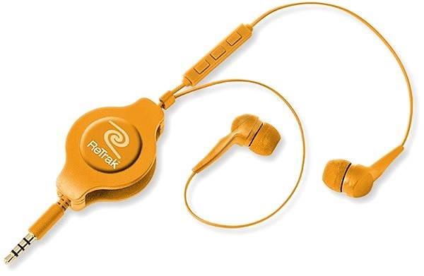 Reichweite Earbuds iPhone Steuert Orange - Kopfhörer