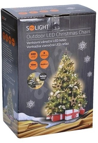 Weihnachtsbeleuchtung Led Outdoor.Solight Led Outdoor Kette 200 Led Warmweiß Weihnachtsbeleuchtung