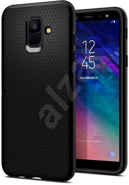 Spigen Liquid Air Schwarz Samsung Galaxy A6 - Silikon-Schutzhülle
