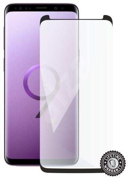 Screenshield SAMSUNG G960 Galaxy S9 Tempered Glass Protection (black - CASE FRIENDLY) fürs Display - Schutzglas