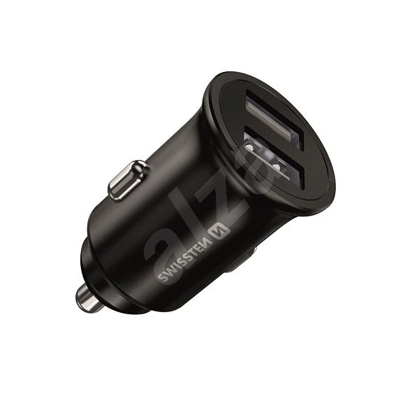 Swissten CL Adapter 2x USB 4.8A Metall schwarz - Autoladegerät