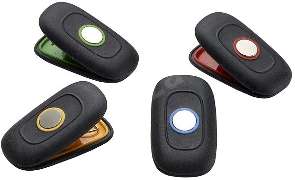 Kühlschrank Einkaufsliste Magnet : Tefal comfort touch 4 magnetklammern an den kühlschrank magnet