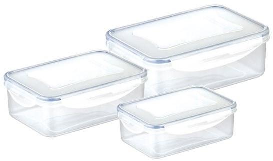 TESCOMA FRESHBOX 3 Stück, 1,0, 1,5, 2,5 l, rechteckig - Dosen-Set