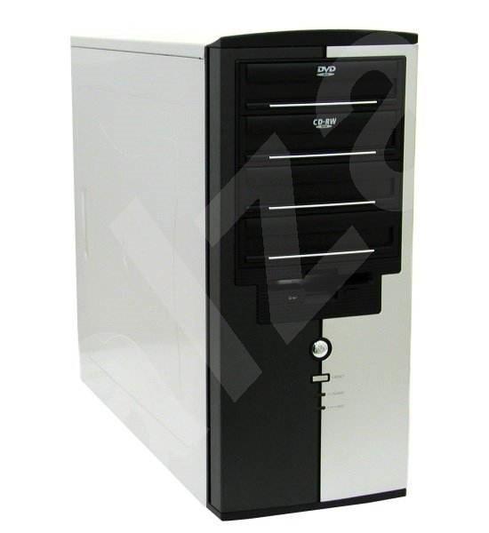 "KME MiddleTower ATX CX-6262, P4-400W, 4x5.25"", 1+6x3.5"" včetně USB/ audio portů - PC-Gehäuse"