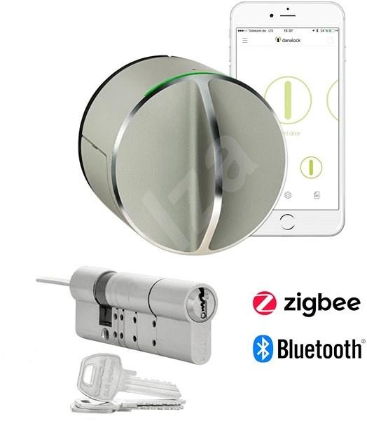 danalock v3 bietet ein cleveres schloss mit zylindrischem einsatz bluetooth zigbee smart