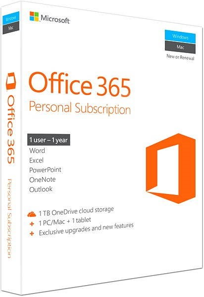 Office Suite Microsoft Office 365 Personal Eng Officepack