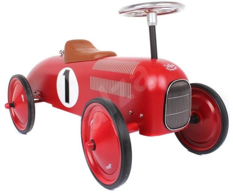 metall rutschauto historischer rennwagen rot laufrad. Black Bedroom Furniture Sets. Home Design Ideas