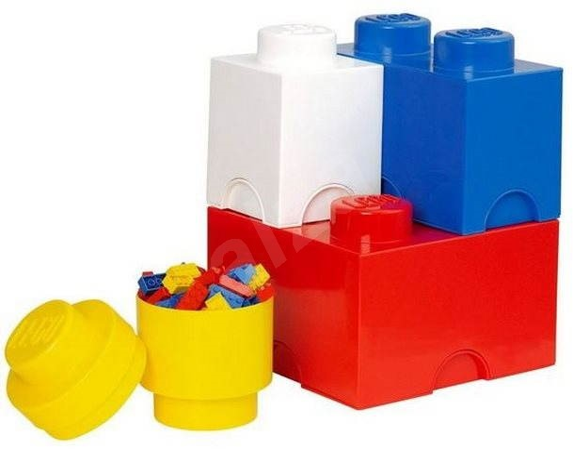 lego aufbewahrungsboxen multipack 4 st ck aufbewahrungsbox. Black Bedroom Furniture Sets. Home Design Ideas