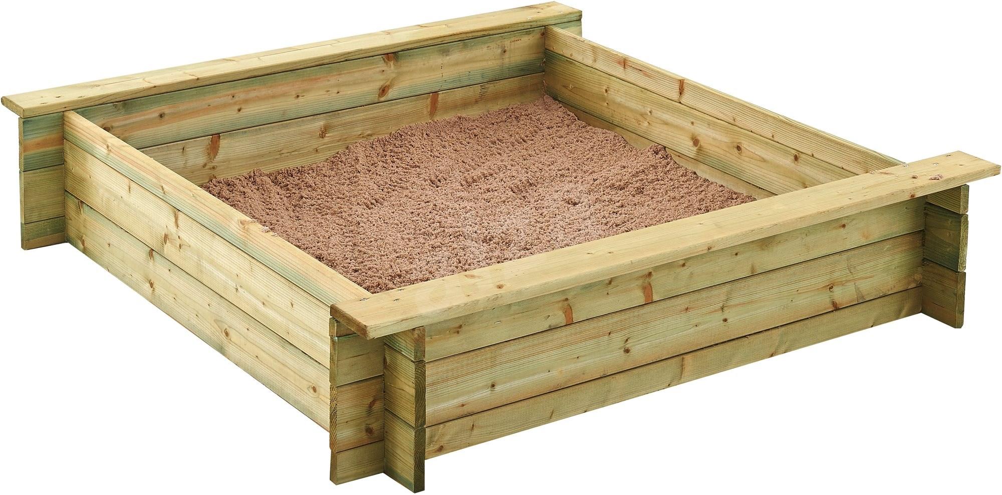 holz sandkasten trigano alix 120 cm sandkasten. Black Bedroom Furniture Sets. Home Design Ideas