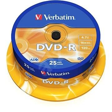 VERBATIM DVD-R AZO 4,7 GB, 16x, Spindel 25 Stück - Media
