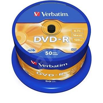 Verbatim DVD-R 16x, 50ks cakebox - Media