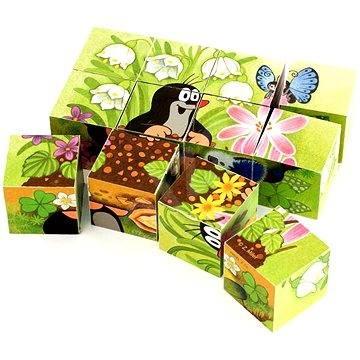 Der kleine Maulwurf und der Vogel - 12 Holzwürfel - Bild-Würfel