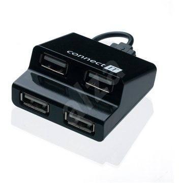 CONNECT IT CI-108 Step schwarz - USB Hub