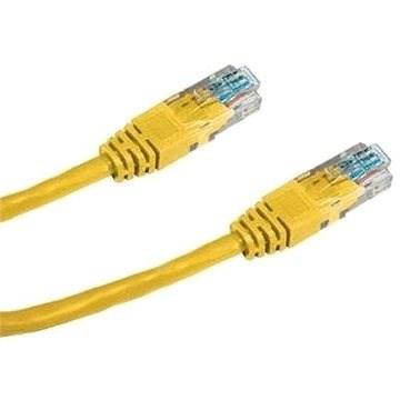 Datacom CAT5E UTP gelb 0.5m - Netzkabel