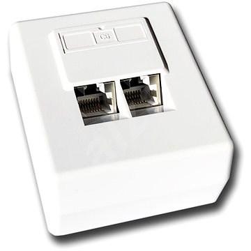 Datacom, CAT 6, STP, 2x RJ45 für für Überputz-Wandmontage - Steckdose